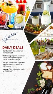 Daily Deals at Signatures