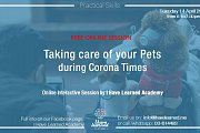 Taking care of your pets during the CoronaVirus Outbreak - Free Online Session by I Have Learned Academy