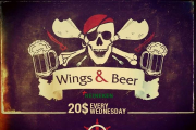 Wings & Beer at Malgo, Publicity - Every Wednesday
