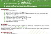Corporate Responsibility Management Professional Training