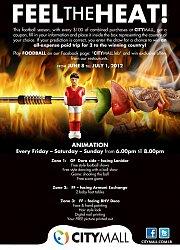 """Feel the Heat"" at Citymall - Football & animation"