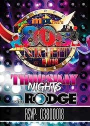 80'S NIGHT at B018 every Thursday