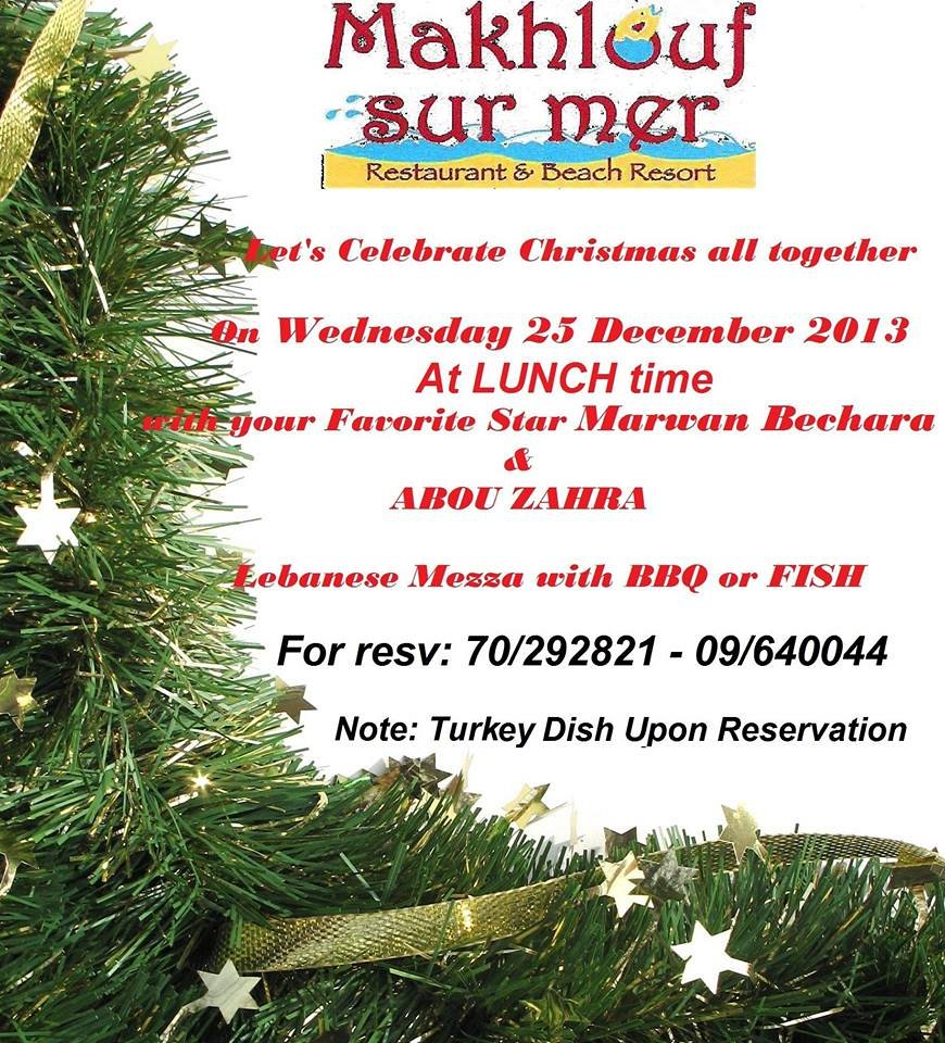Christmas lunch at Makhlouf sur Mer « Lebtivity