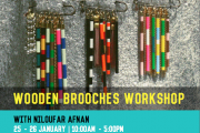Wooden Brooches Workshop with Niloufar Afnan in Beit Waraq