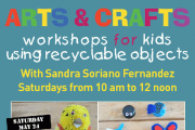 Arts and Crafts workshop for kids using recyclable objects