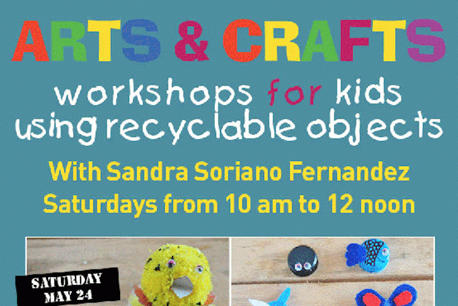 Arts and crafts workshop for kids using recyclable objects for Amazon arts and crafts for kids