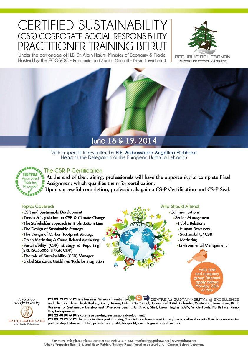 IEMA Certified Sustainability CSR Practitioner Training « Lebtivity