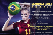 WATCH the World Cup 2014 with the HILTON Football Frenzy!