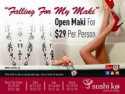 "Falling for ""My Maki"" - Open Maki at Sushi Ko"