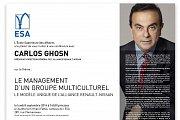 Conférence avec Carlos Ghosn - PDG de Renault-Nissan a l'ESA