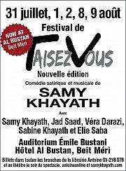 Festival de Taisez-Vous avec Samy Khayath