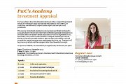 PwC's Academy, Investment Appraisal workshop
