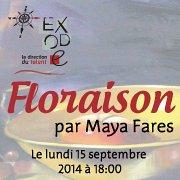 """""""Floraison"""" Exposition Solo par Maya Fares à Exode"""