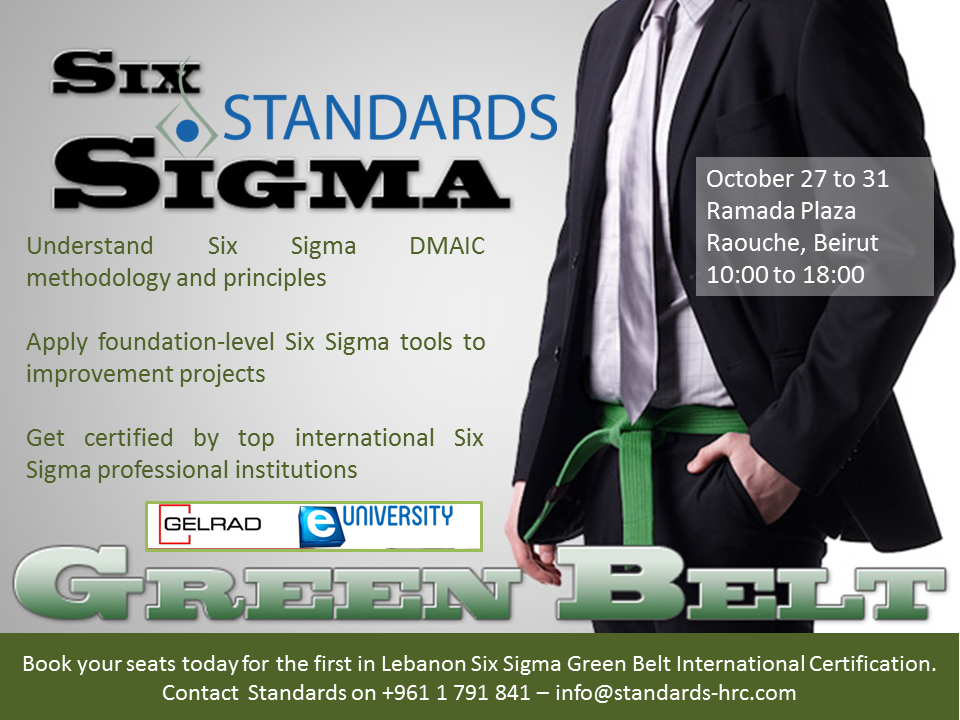 Six Sigma Green Belt Certification Lebtivity