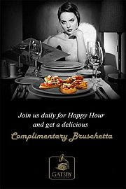 Happy Hour and Bruschetta at Gatsby
