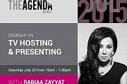 TV hosting and Presenting workshop with Rabiaa Zayyat with The Agenda