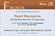 Panel Discussion: The UN Then and Now: 70 years later