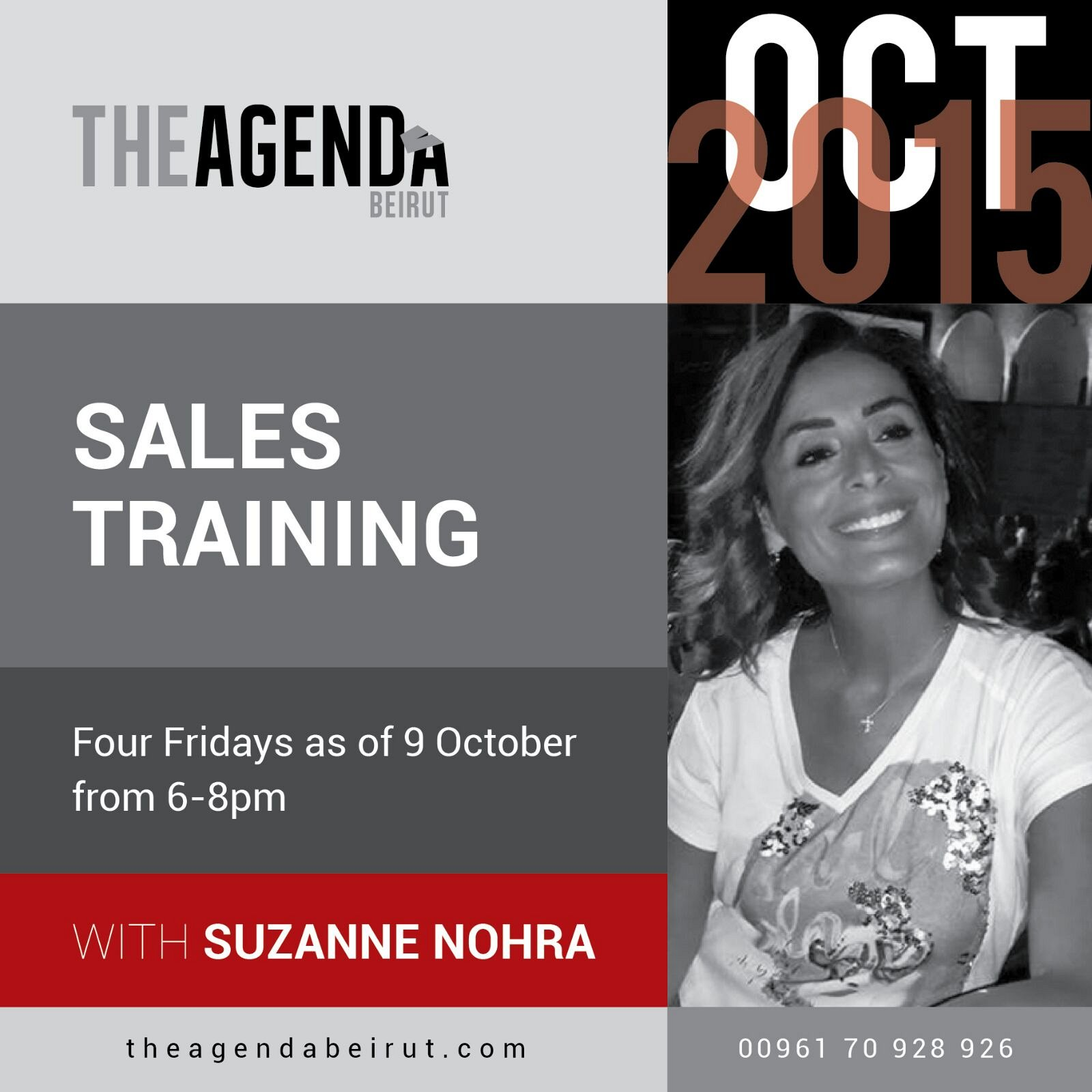 sales training with suzanne nohra at the agenda beirut lebtivity