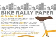 Bike Rally Paper - Pedal Against Poverty with Foodblessed