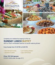 Sunday Lunch Buffet at Bay Lodge Boutique Hotel