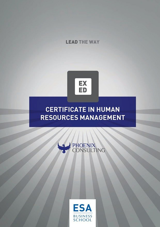 Hr Certificate Program Jointly Delivered Certified By Esa Lebtivity