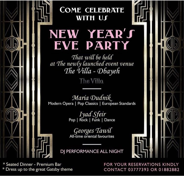 The Great Gatsby Special NYE 2016 Party At The Villa
