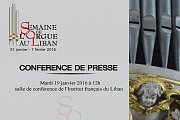 Conference de Presse: Semaine de l'Orgue au Liban - Lebanese Pipe Organ Week