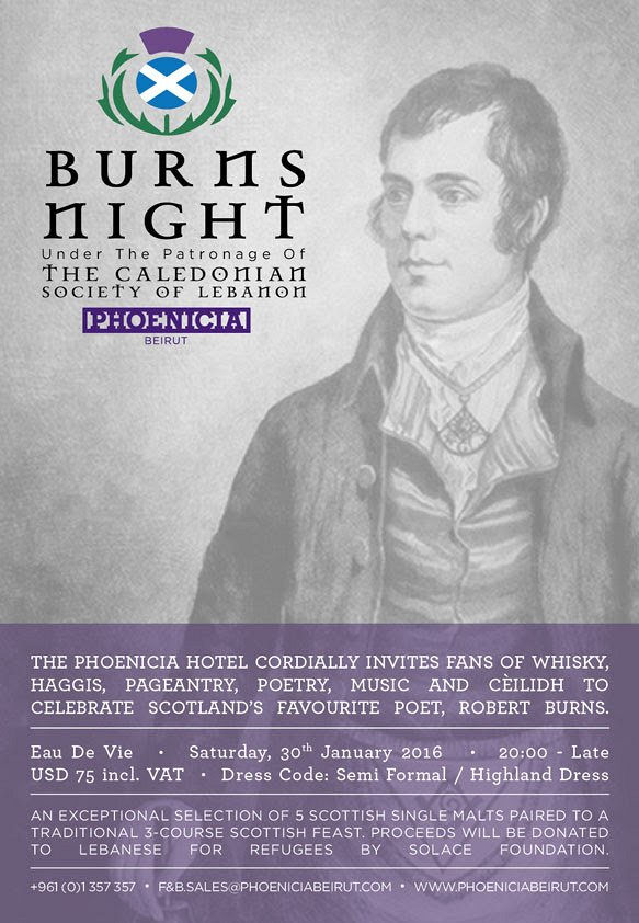 Burns Night at Eau De Vie under the patronage of the Caledonian