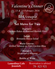 Valentine's Dinner at Lamedina Cafe