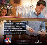 Super Sunday Lunch with special Kids Entertainment at Le Royal
