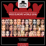 Miss Europe World 2016 at BLOW
