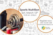 Sports Nutrition Workshop with Healthy Happy Us