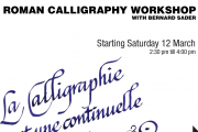 Roman Calligraphy Workshop with Bernard Sader