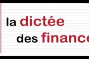 La dictée des finances