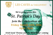 Saint Patrick's Day Celebrations at Les Caves de Taillevent