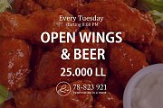 Open Wings & Beer at Lamedina Cafe