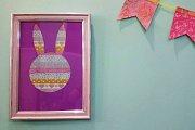 Easter Crafts: Framed Bunny