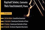 Saison de Musique de Chambre | Raphaël Sévère, Clarinette Théo Fouchenneret, Piano