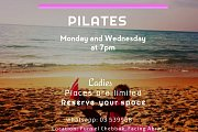 Pilates every Monday and Wednesday