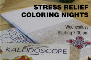 Stress Relief Coloring nights at Aleph B