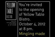 "Opening ""Yellow Table Bistro"""