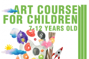 Art course for children 7-12 years old