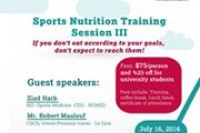 Sports Nutrition Training Session III