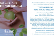 The World of Health And Wellness Forum