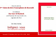 """Signature du livre """"Indignez-vous pour ne pas perdre votre dignité"""" de Abdo Medlej"""