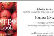 Book-Singing by Chef Marlene Matar