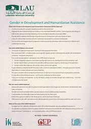 Gender in Development and Humanitarian Assistance (GDHA) Diploma