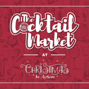 The Cocktail Market at Christmas In Action