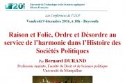 Les Conférences de l'ULF - Intervenants Pr. Antoine Messarra et Pr. Bernard Durand