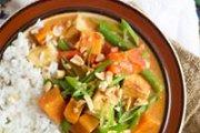 Thai three curry dinner